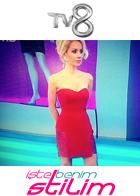 Tv 8 İşte Benim Stilim Öykü Serter Tuğçe Yusufoğlu Elbise ile